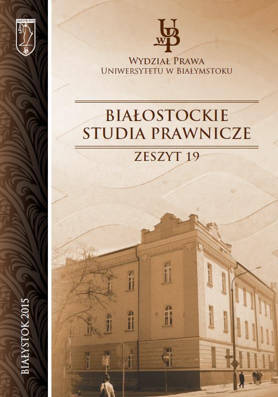 Białostockie Studia Prawnicze Zeszyt 19