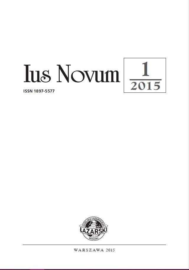 Ius Novum 1/2015