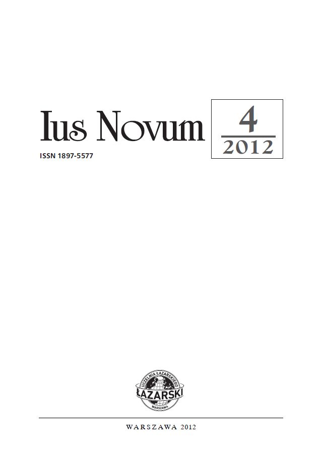 Ius Novum 4/2012