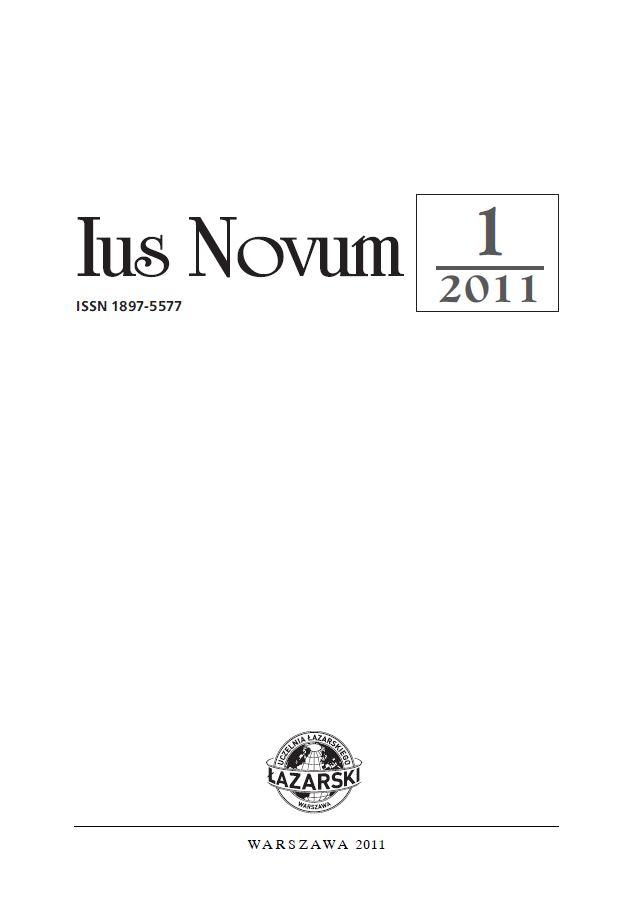 Ius Novum 1/2011