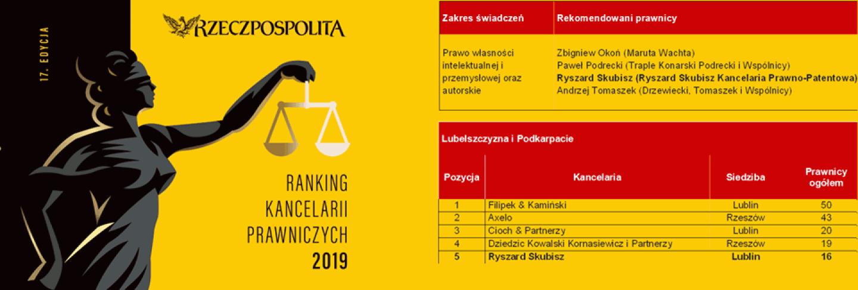 Ranking Kancelarii Prawniczych 2019 Rzeczpospolita